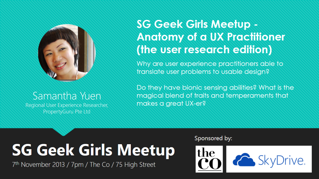 SG Geek Girls Meetup